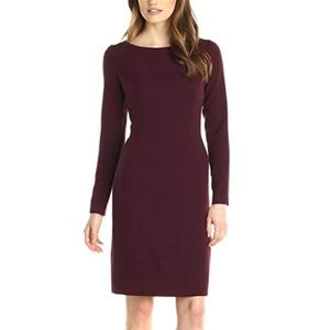 Anne Klien Long Sleeve Fitted Dress
